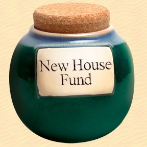 New House Fund Classic Word Jar
