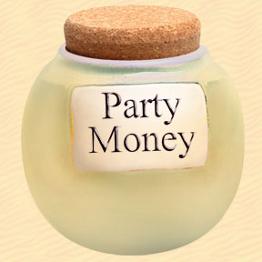 Tumbleweed Party Money Classic Word Jar