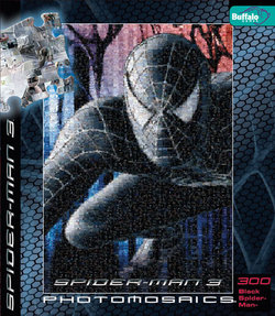 Black Costume Spider-Man 3 Photomosaic 300 Piece Puzzle