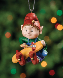 Building Skateboard Jingle Elves Ornament