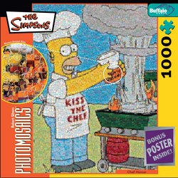 Chef Homer, The Simpsons - 1000 Piece Photomosaic Jigsaw Puzzle