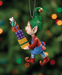 Balancing Gifts Jingle Elves Ornament