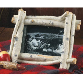 "Rustic Faux Birch Bark 4"" X 6"" Photo Frame"