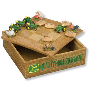 John Deere Tic Tac Toe Game Box