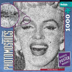 Marilyn Monroe 1000 Piece Jigsaw Puzzle Photomosaic by Robert Silvers