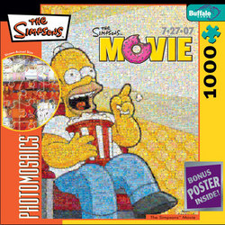 The Simpsons Movie 1000 Piece Photomosaic Jigsaw Puzzle
