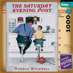 Norman Rockwell The Runaway - The Saturday Evening Post 1000 Piece Jigsaw Puzzle