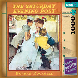 Norman Rockwell Soda Jerk - The Saturday Evening Post 1000 Piece Jigsaw Puzzle