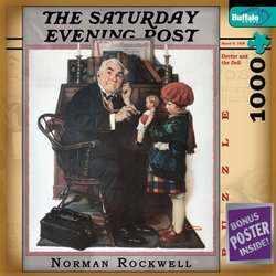 Norman Rockwell Doctor and the Doll - Saturday Evening Post 1000 Piece Jigsaw Puzzle