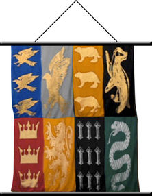 Harry Potter Houses of Hogwarts Wall Scroll