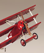 Fokker Triplane (Red Baron) Authentic Models Plane