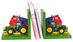 John Deere Childrens Tractor Bookends