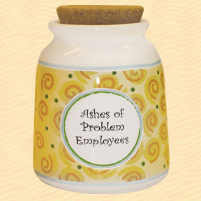 Tumbleweed Ashes of Problem Employees Designer Word Jar