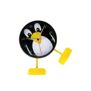 Present Time Penguin Sound Alarm Clock With Feet