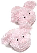 Dezi AniMules Fuzzy Pink Pig Slippers -Adult Size