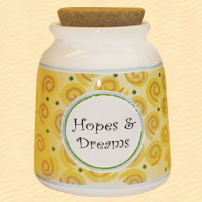 Tumbleweed Hopes & Dreams Designer Word Jar