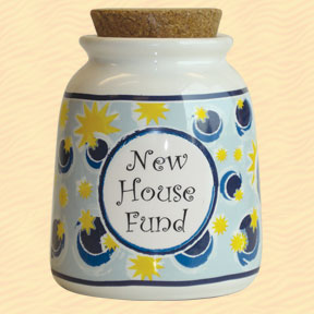 Tumbleweed New House Fund Designer Word Jar