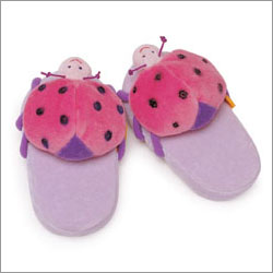 Bestever Ladybug Kisses Kids Plush Slippers