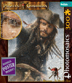 """Jack """"At World's End"""" Pirates of the Caribbean 300 Piece Photomosaic Puzzle"""