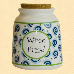 Tumbleweed Wine Fund Designer Word Jar