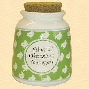 Tumbleweed Ashes of Obnoxious Teenagers Designer Word Jar