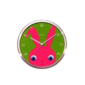 Present Time Peekaboo Rabbit Wall Clock