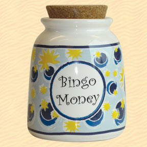 Tumbleweed Bingo Money Designer Word Jar