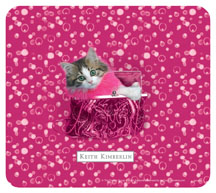 Keith Kimberlin Kitten in Pink Purse Mousepad