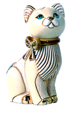 Angora Cat with Ribbon # 776 Artesania Rinconada Silver Anniversary Collection