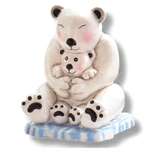 Waxcessories Save a Hug Polar Bears Ceramic Bank
