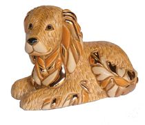 Golden Retriever # 805 Artesania Rinconada Silver Anniversary Collection