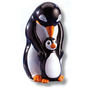 Waxcessories Save a Hug Penguins Ceramic Bank