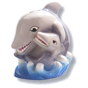 Waxcessories Save a Hug Sharks Ceramic Bank
