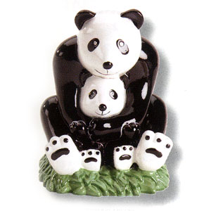 Waxcessories Save a Hug Panda Bears Ceramic Bank