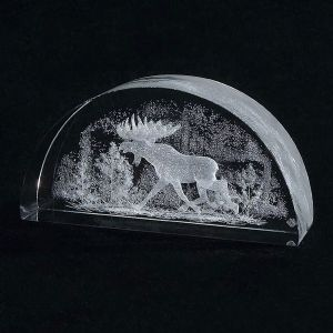Crystal Impressions Moose with Birchtrees