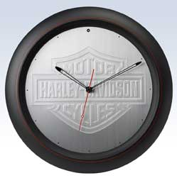 Harley-Davidson Aluminum Bar and Shield Clock