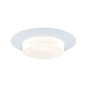 Jesco TM605 Line Voltage Shower Trim Frosted Opal White Glass