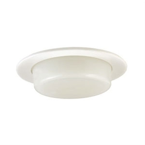 Jesco TM410 Dropped Dish Shower Trim With Frosted Opal White Glass