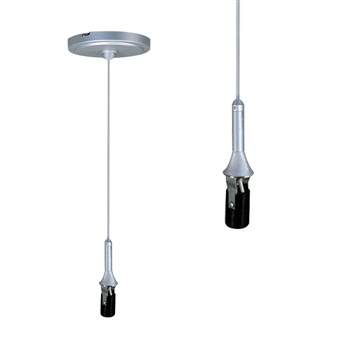 "NRS99-P55  Line Voltage Monopoint Canopy 8'-6"" Pendant Cord with Candelabra Base"