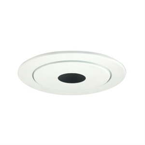 "Jesco TM414WH 2-Piece Pinhole with White Baffle 4"" Trim"