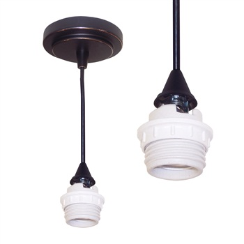"NRS90-P56 Canopy Mount Line Voltage 8'-6"" Pendant Cord with Medium Base"