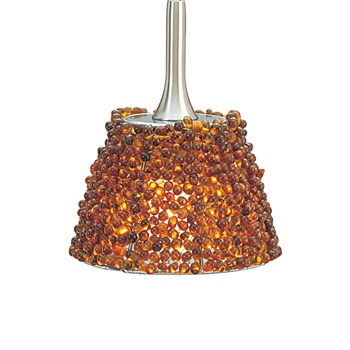 Nora NRS70-604 Flare Angoor Beaded Shade for Pendant