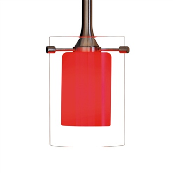 Nora NRS80-404 Dual Clear Effect Glass Shade for Pendant Light