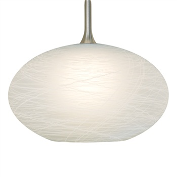 Nora NRS80-473  COCOON  WHITE Glass Shade for Pendant