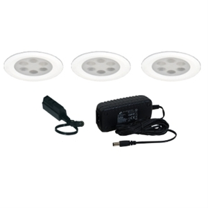 KIT-PK755-A Jesco Fixed 6-light Round LED Slim Disk Kit - 2.5W Each