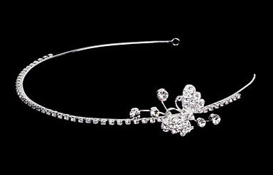 Butterfly Series Rhinestone and Silver Side Headband TRS2246