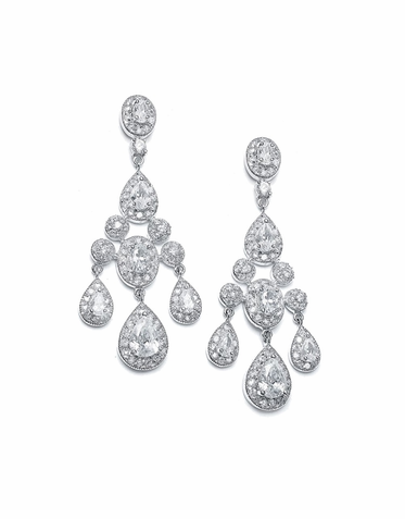 Lavish Zirconia Chandelier Earrings