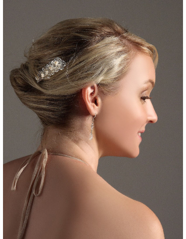Floral Filigree Tower Bridal Hairpin IPN006