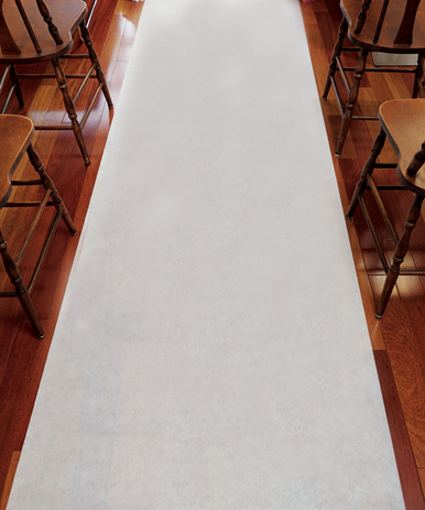 CLEARANCE: Solid White Wedding Aisle Runner