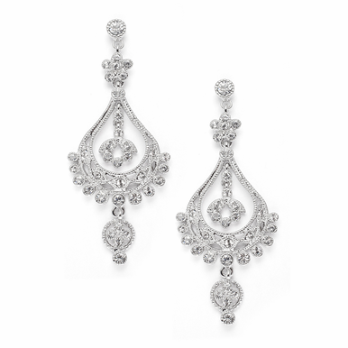 Opulent Zirconia Chandelier Earrings